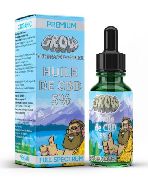 HUILE DE CBD 5% PREMIUM